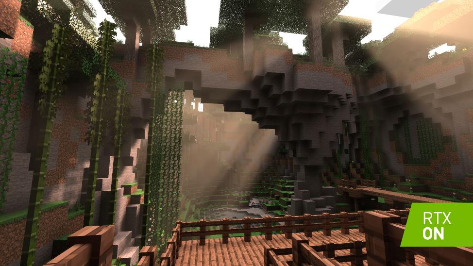 Minecraft with NVIDIA RTX