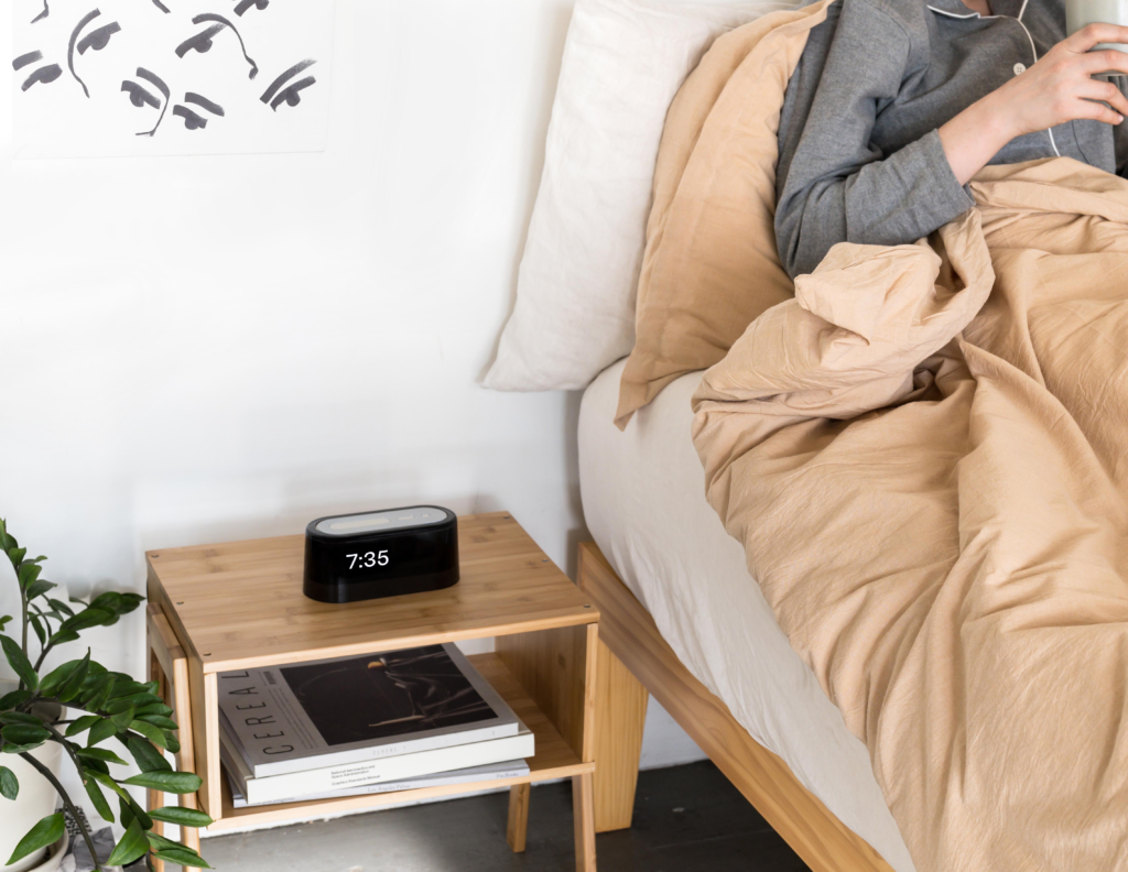 Loftie smart alarm clock bedside