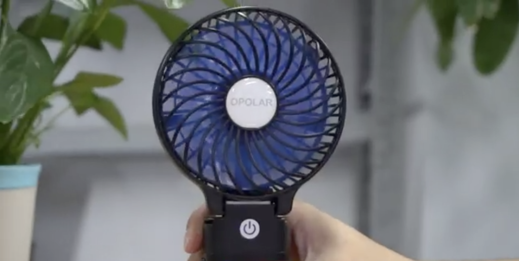 OPOLAR Portable Battery Operated Handheld Personal Desk Fan