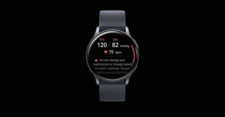 Samsung Health Monitor on Galaxy Watch Active2
