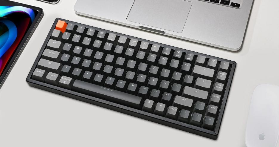 keychrone k8 next to mac